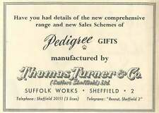 1953 Thomas Turner Suffolk Works Sheffield Pedigree Gifts Ad