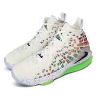 Nike LeBron XVII GS 17 James LBJ Air Command Force White Kid Women BQ5594-100