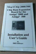 AMIGA 2000/500 MEGACHIP RAM EXPANSION BOARD GUIDE VINTAGE COMPUTER