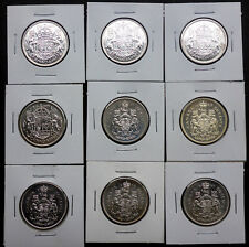 BIRTHDAY COINS SILVER CANADIAN 1/2 DOLLAR 1952-1966 UNICORN/LION 1 COIN ONLY