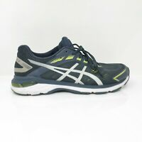 Asics Mens GT 2000 7 1011A158 Blue White Running Shoes Lace Up Size 10.5 Wide