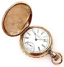 Vintage American Waltham Size 6/0 60 Min. Register Hunter Case Pocket Watch