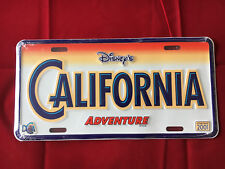 Disney License Plate- California Adventure New Sealed