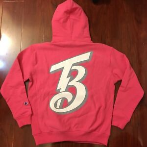 NEW CHAMPION X TOKYO BEAMS HOODIES POPOVER REVERSE WEAVE TERRY PINK MEN SIZE XS