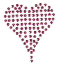 PINK RHINESTUD HEART - IRON ON TRANSFER /Valentines, Hearts, Love