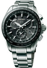 New Seiko Astron Solar GPS Dual-Time Titanium Men's Watch SSE045