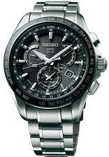 New Seiko Astron Solar GPS Dual-Time Titanium Men's Watch SSE045
