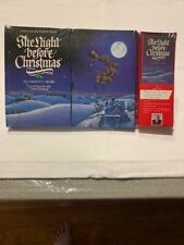 Hallmark 1988 Night Before Christmas Pop Up Book Tape Mint Sealed Free Shipping