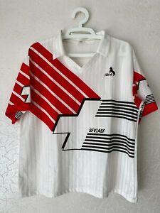 RARE SWITZERLAND 1990 1992 AWAY BLACKY FOOTBALL JERSEY SHIRT SIZE 8 (M)