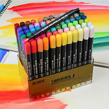 STA Acrylic Paint Marker Pens Art Permanent Watercolor Twin Tip Painting Writing