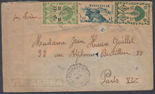 Madagascar French Colonies Airmail to Paris, France;