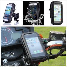 Motorcycle Bike Handlebar Holder Mount + Waterproof Bag Case For Cell Phone GPS