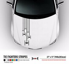 TIE FIGHTERS SQUAD Star Wars Hood Stripes Car Vinyl Sticker Decal