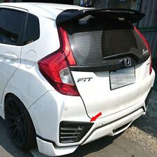 Carbon Fiber For HONDA FIT 3th GK Jazz Rear Bumper Vent Splitter Cover 2014-2016