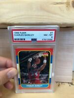 1986 Fleer Basketball Charles Barkley Rookie #7 PSA 8