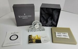 """Waterford Crystal 4"""" Cottage Mantle Clock Small Seiko Analogue"""