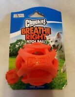ChuckIt! Breathe Right Fetch Ball Orange Size Large Grande NEW