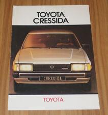 Catalogue TOYOTA CRESSIDA 2 de 1982