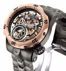 New Men's Invicta 16300 Tourbillon Mechanical Reserve Open Heart Watch