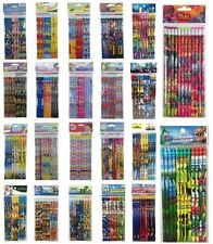 48pc Disney Nickelodeon DC Marvel School Pencil Supplies Peppa Princess Moana