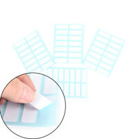 12Sheet self adhesive sticky white label writable name sticker Blank notelabelWU
