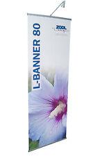 L-Banner incl. Druck 80cm x 215cm Werbedisplay Aufsteller Werbebanner Display