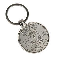 Retro Perpetual Calendar Unique Metal Key Chain Ring 50 Years Keyring KeyChain E