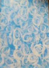 2 x A4 Mid Blue Standard Roses Patterned Vellums NEW