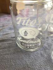 New listing 12 Tito's Handmade Vodka Austin Texas Tx Mason Jar 12oz Drinking Glasses Box