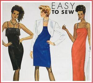 Vintage 80's SEXY SASSY SLIP DRESS Sewing Pattern SIZE 6 / 8 / 10 (S9449)