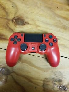 Playstation 4 PS4 Wireless Controller For Parts/Repair Only - Red - Ships Free