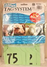 Allflex Global Maxi Numbered Ear Tags Green Numbered 51-75 Calves Cows
