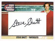 2018 President's Choice Bleu Blanc et Rouge Papercuts Autograph Steve Shutt