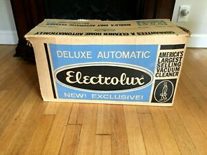 Vintage Electrolux Model Automatic G Vacuum Cleaner With Attachments & Box