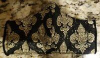 Classy! Handmade Washable Double Layer Cotton Face Mask Black, Gold Fleur de lis