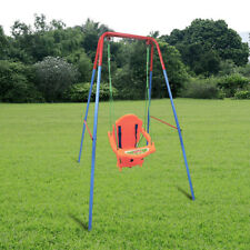 Backyard Children Swing Set with Frame Rope Playground Kids Baby Garden Toy New