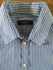 BRUUNS BAZAAR copenhagen men's shirt 100% cotton, size M blue stripes