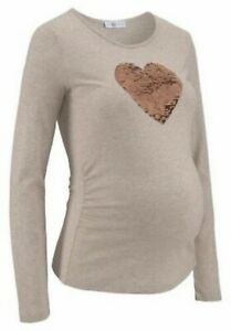 9Monate Maternity Shirt with Heart Size 44/46 Long Sleeve (710) New