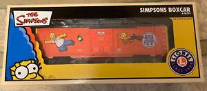 LIONEL Simpsons Boxcar o gauge train cartoon tv bart 6-36291 NIB NR alt