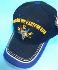 Oes, O.E.S , Order Of The Eastern Star Black Color One Size Cap