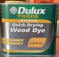 Dulux Trade Quick Drying Water Based Wood Stain Dye Antique Pine 500ml
