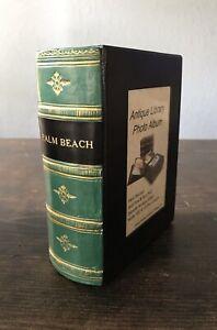 Richard E Bishop LTD Faux Antique Book Photo Album Palm Beach Hand Painted