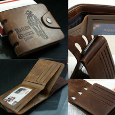 Men Hunter Patern Leather Wallet Credit Card Holder Small Purse US