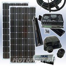 200W SOLARANLAGE KOMPLETT MPP LADEREGLER,KABEL+STECKER,CAMPING 200 Watt SOLARA