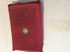 Mary MITFORD 1909 SKETCHES OF ENGLISH LIFE & CHARACTER Book ILL Forbes Suede 1st