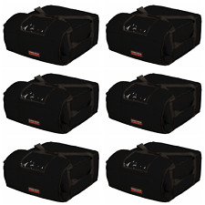 """Case of 6 Insulated Pizza Bags (Holds 4-5 16"""" or 18"""" pizzas) Black"""
