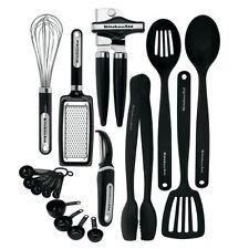 Kitchen Tool Gadget Utensils 17 Pc Set Serving Tools Tongs Basting Spoon Cooking