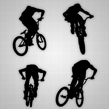 "Freesyle BMX Racing, Racing Wall Decals, BMX Stickers 4PCS 30""-36"""