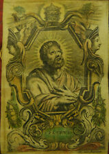 RELIQUIA RELIC  SANTINO HOLY CARD PERGAMENA S.PIETRO APOSTOLO 1600