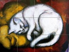Art Marc Franz Cat Mural Ceramic Backsplash Bath Tile #2114